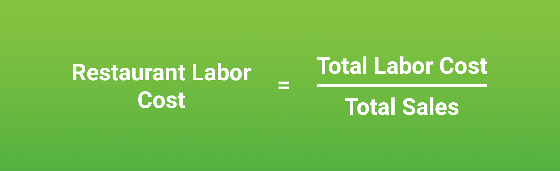 Restaurant Labor Cost Percentage Formula