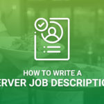 How To Write A Server Job Description