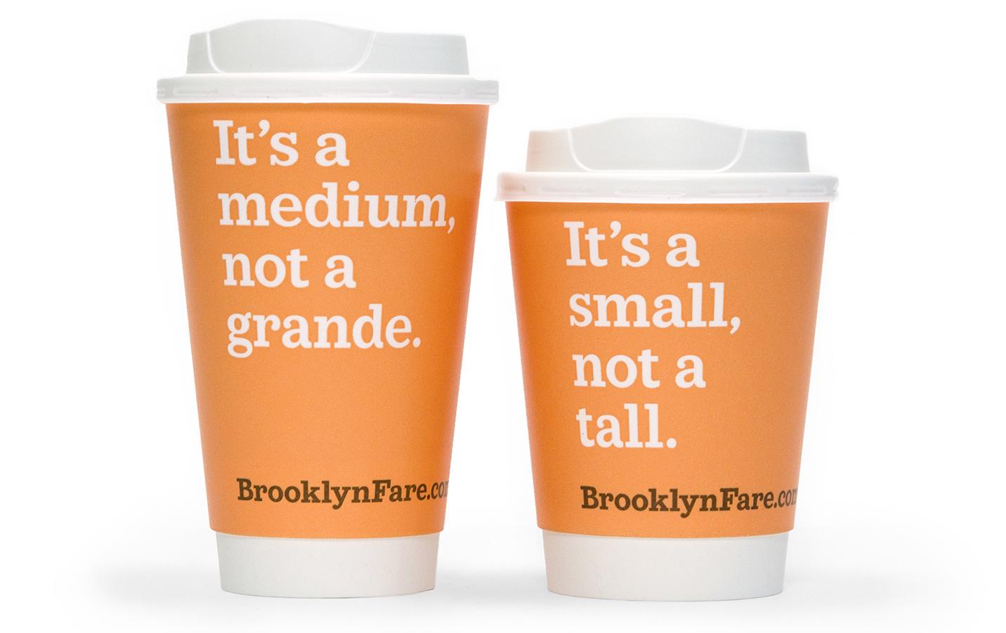 brooklyn fare coffee cups