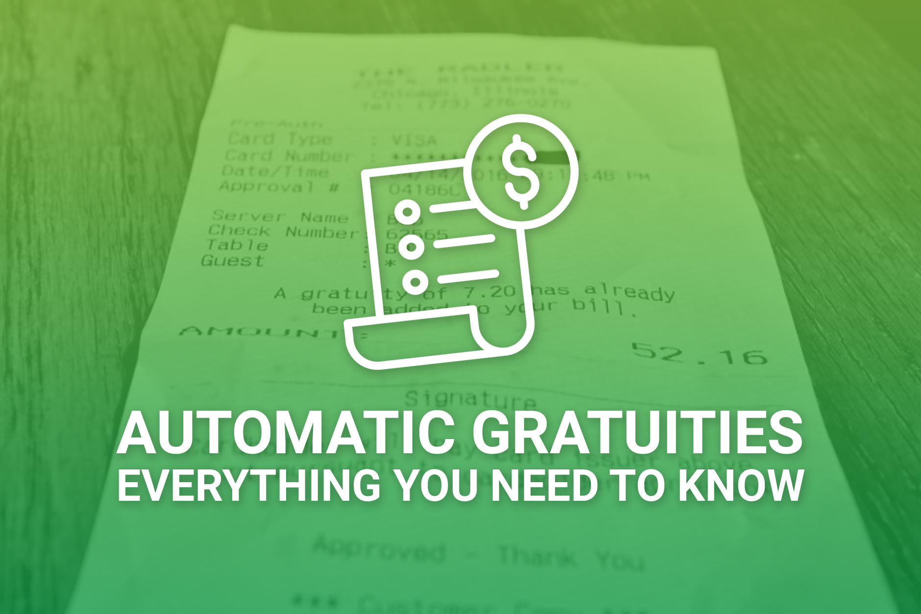 Automatic Gratuities For Restaurants