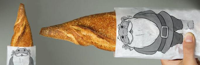 Gnome Bread Bags