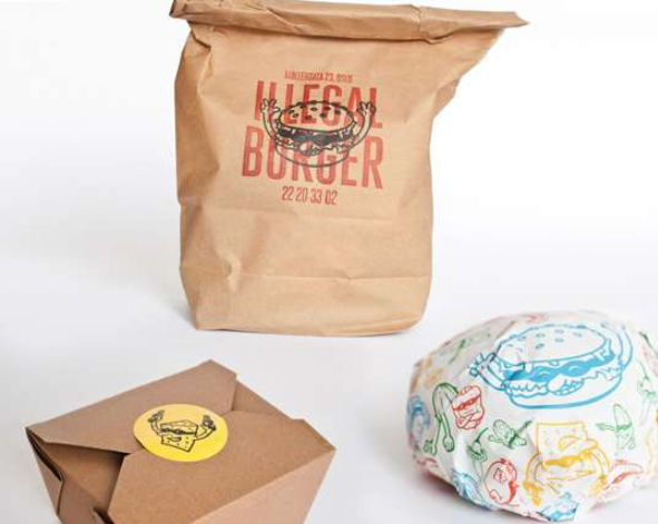 Illegal Burger Co Bags