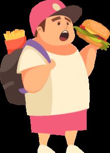 Kid Eating Fast Food